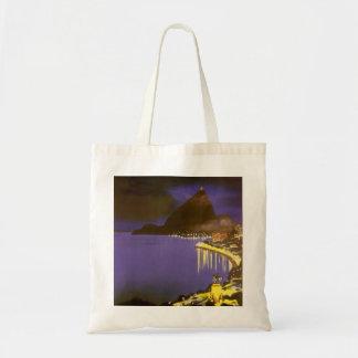 Vintage Rio De Janeiro at Night Tote Bag
