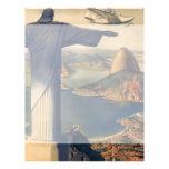 Vintage Rio De Janeiro, Christ the Redeemer Statue 21.5 Cm X 28 Cm Flyer