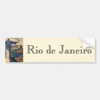 Vintage Rio De Janeiro, Christ the Redeemer Statue Bumper Sticker
