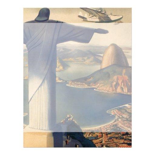 Vintage Rio De Janeiro, Christ the Redeemer Statue Full Color Flyer