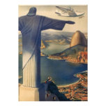 Vintage Rio De Janeiro, Christ the Redeemer Statue Personalised Invites