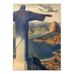 Vintage Rio De Janeiro, Christ the Redeemer Statue Personalised Invites