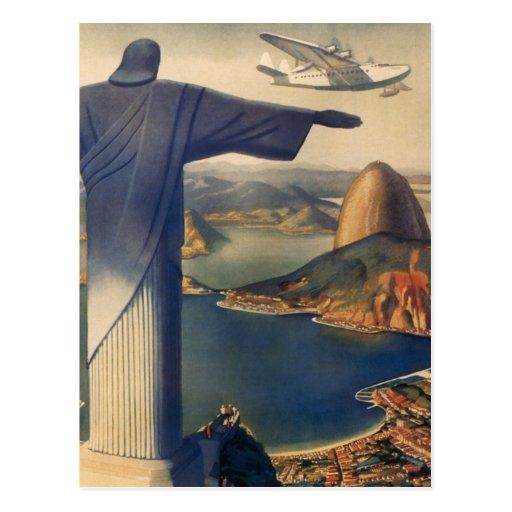 Vintage Rio De Janeiro, Christ the Redeemer Statue Post Cards