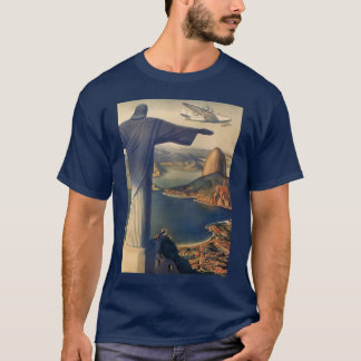 Vintage Rio De Janeiro, Christ the Redeemer Statue T-Shirt