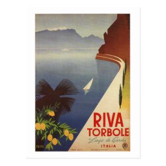 Vintage Riva Torbole Lago de Garda Italy Postcard