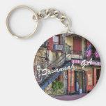 Vintage River Street, Savannah, Georgia Key Chains
