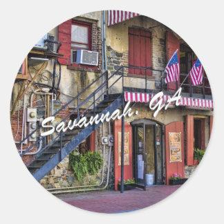 Vintage River Street, Savannah, Georgia Stickers