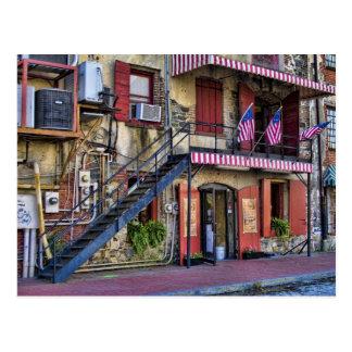 Vintage River Street, Savannah Postcard
