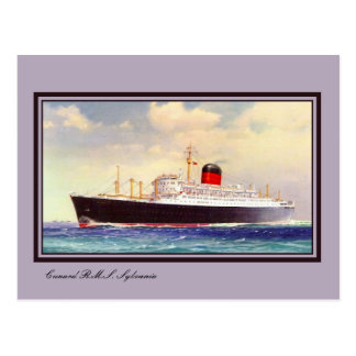 Vintage RMS Sylvania art Postcard
