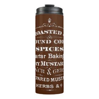 Vintage Roasted Ground Coffee Spices Mustard Mug