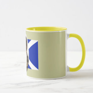 Vintage Robert Burns Portrait Saltire Mug
