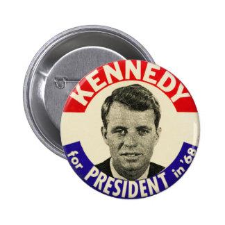Vintage Robert Kennedy For President Pin 1968