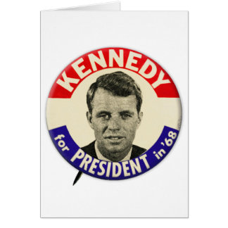Vintage Robert Kennedy For President Pin 1968 Greeting Card