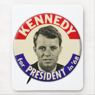 Vintage Robert Kennedy For President Pin 1968 Mouse Pad