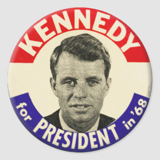Vintage Robert Kennedy For President Pin 1968 Stickers