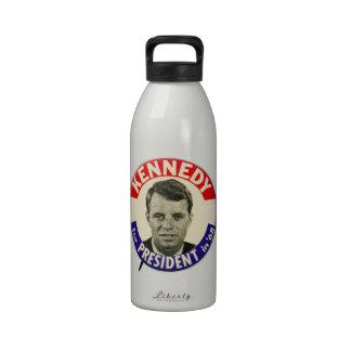 Vintage Robert Kennedy For President Pin 1968 Water Bottle