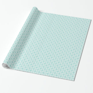 Vintage Robin Egg Blue Turquoise & White Damask #2 Wrapping Paper