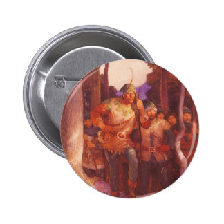 Vintage Robin Hood and His Merry Men by NC Wyeth 6 Cm Round Badge