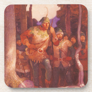 Vintage Robin Hood and His Merry Men by NC Wyeth Beverage Coaster