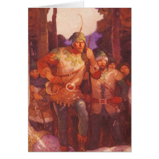 Vintage Robin Hood and His Merry Men by NC Wyeth Greeting Card