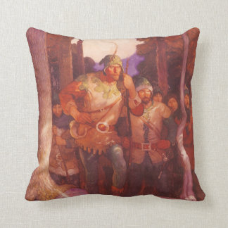 Vintage Robin Hood and His Merry Men by NC Wyeth Cushions
