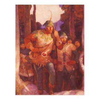 Vintage Robin Hood and His Merry Men by NC Wyeth Postcard
