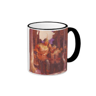 Vintage Robin Hood and His Merry Men by NC Wyeth Ringer Mug