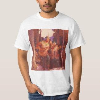 Vintage Robin Hood and His Merry Men by NC Wyeth T-shirts