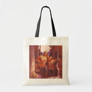 Vintage Robin Hood and His Merry Men by NC Wyeth Budget Tote Bag