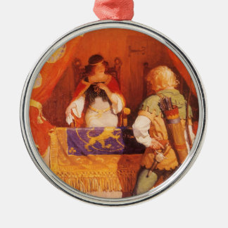 Vintage Robin Hood Meets Maid Marian by NC Wyeth Christmas Ornament