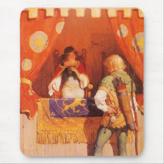 Vintage Robin Hood Meets Maid Marian by NC Wyeth Mouse Mat
