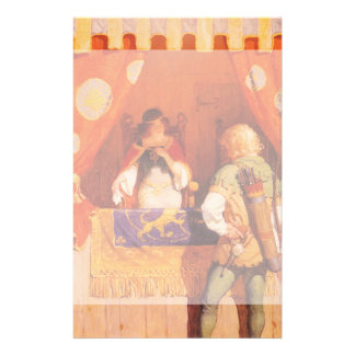 Vintage Robin Hood Meets Maid Marian by NC Wyeth Personalised Stationery