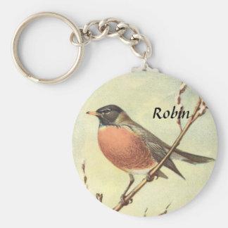 Vintage Robin Keychain