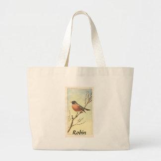 Vintage Robin Tote Jumbo Tote Bag