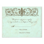 Vintage Robins Egg Blue Crown Swirl Flourish Personalised Announcements