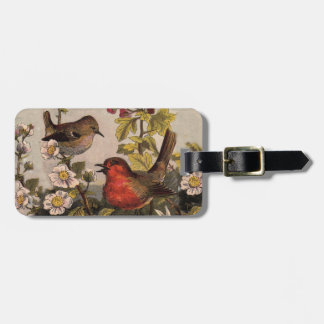 Vintage Robins for Bird Lovers Luggage Tag