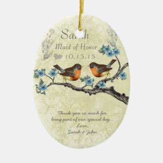 Vintage Robins Maid of Honor Ornaments