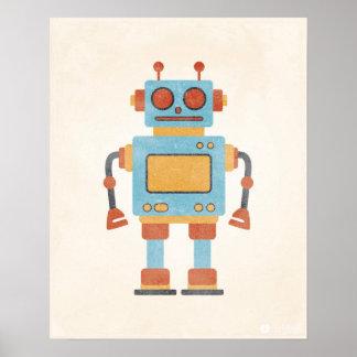 Vintage Robot Poster