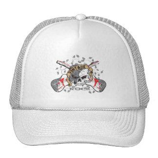 Vintage Rock Skull and Electric Guitars Trucker Hat