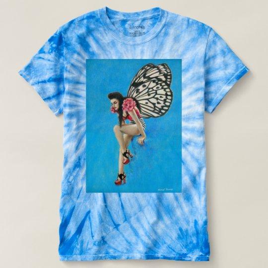 Vintage Rockabilly Fairy Tie-dye Women's T-shirt