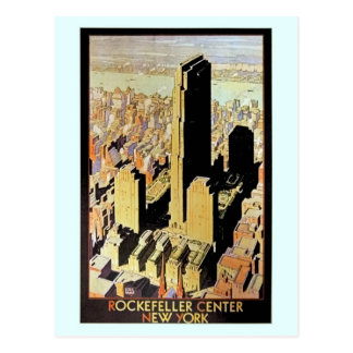 Vintage Rockefeller Center New York City Ad Postcard