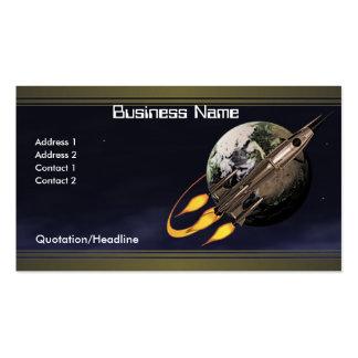 Vintage Rocket Pack Of Standard Business Cards