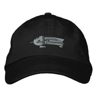 Vintage Rocket Ship Embroidered Hat