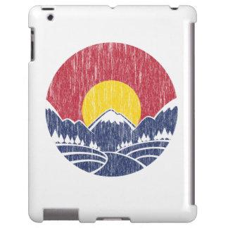 Vintage Rocky Mountain Sunset Logo