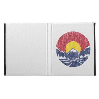 Vintage Rocky Mountain Sunset Logo iPad Folio Covers