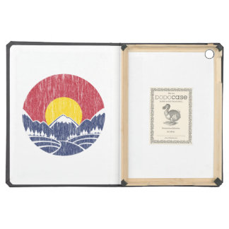 Vintage Rocky Mountain Sunset Logo Cover For iPad Air