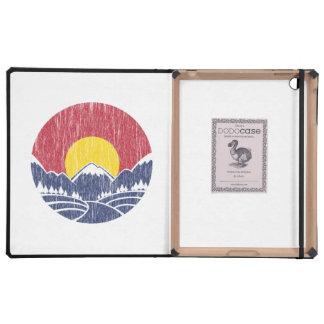 Vintage Rocky Mountain Sunset Logo iPad Case