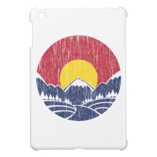 Vintage Rocky Mountain Sunset Logo iPad Mini Cases