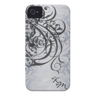 Vintage Rococo Black Monogram Barely There Case