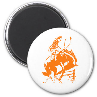 VIntage Rodeo 6 Cm Round Magnet